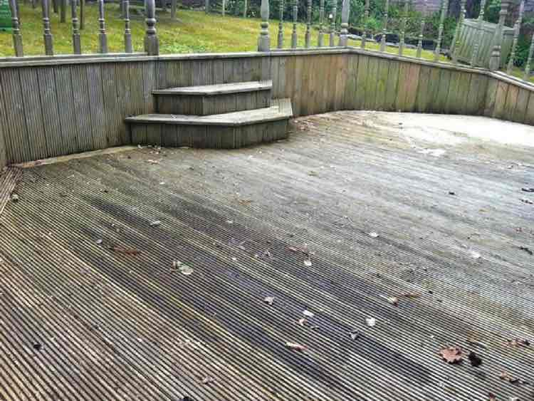 Decking Cleaning in Manchester, Before