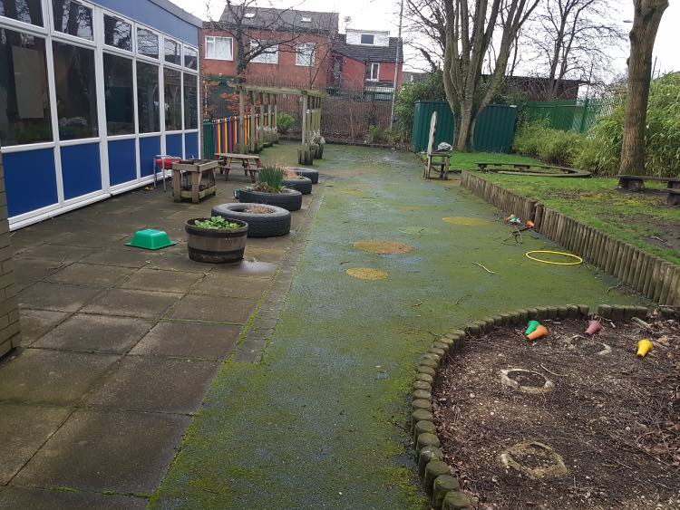 Playground Cleaning in Manchester, Before
