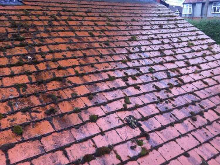 Roof Cleaning in Manchester, Before