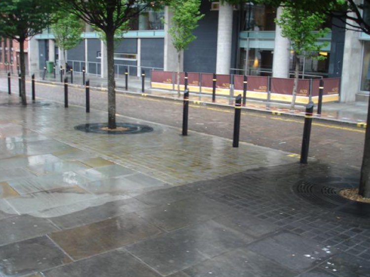 City centre paving cleaning from Blast Away