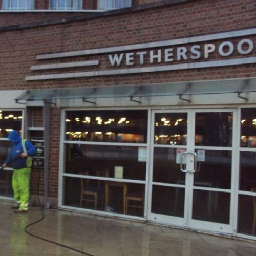 Pub paving jet washing