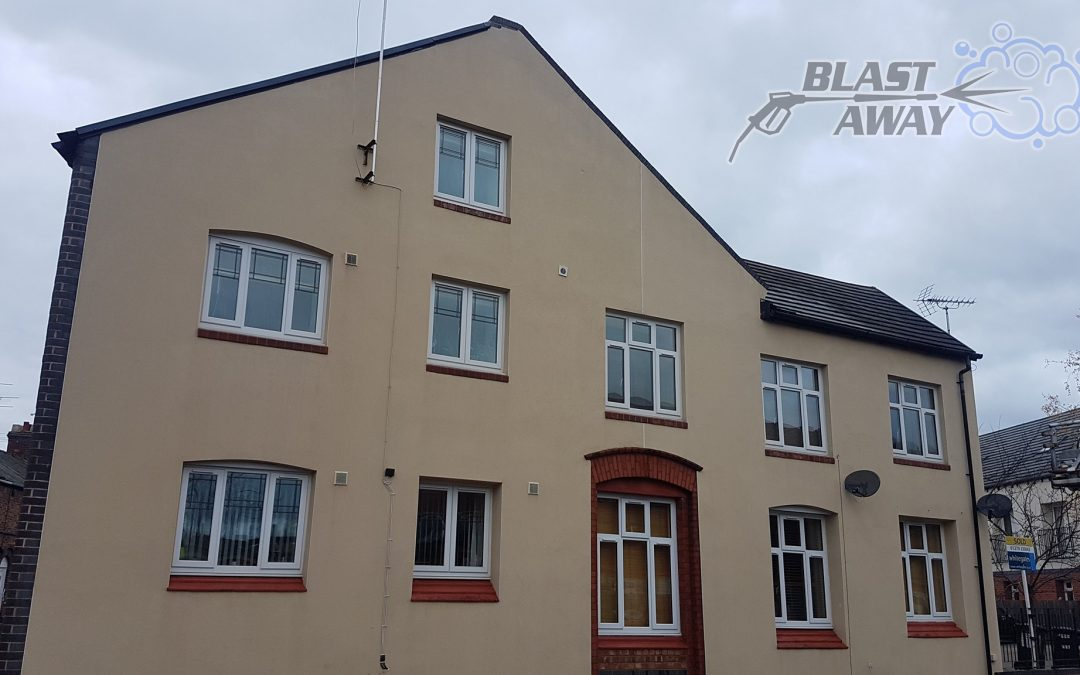 We can clean your render! Render Soft Washing