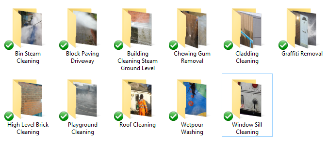 Pressure Washing Photo Package - Buy Jet Wash Images
